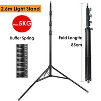 ightpro 2.6m Heavy Duty Steel Metal Photo Light Stand w/ Buffer Spring for Studio