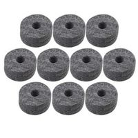 Yibuy 3.5cm Dia Black Round Soft Felt Washers Cymbal Stand Replacement with 1.5cm