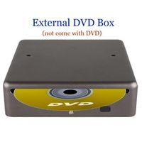 SKYSHADOW External DVD box dvx Support Playing CD Only for our Car Radio Player