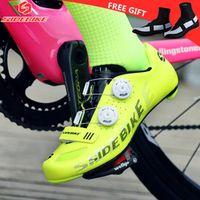 SIDEBIKE men women's bicycle self-locking road MTB carbon tour de france yellow fluo