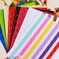 Hot! 5 Sheet DIY Photo Album Scrapbook Corner Sticker PVC Colorful Paper Corner Stickers(1 Sheets=102 Pcs Corner Stickers)