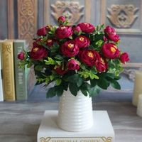 Keythemelife Silk Flower Peony Flower Artificial Flowers