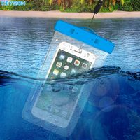 KEYION 5.8'' Universal Waterproof Mobile Phone Bag Case Clear PVC Sealed Underwater Cell Smart Phone Pouch Cover Swimming Diving
