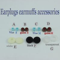 1 pair(2 pcs) M S Size In-ear Silica /silicone headset earplug earmuffs/cotton sponge earmuffs Ear cotton For flat-head