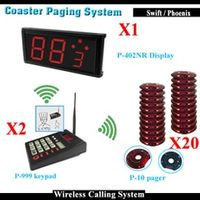 (Call Buzzer Transmitter + Guest Coaster Pagers + Customer Display) Wireless Queue Management System For Fast Food Restaurant