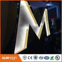 shsuosai LED front lit signs/wedding decoration light up