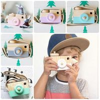Vitoki Mini Wooden Camera Cartoon Baby Toy Kids Creative