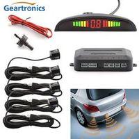 Geartronics Auto Parktronic LED Parking Sensor With 4 Sensors Reverse Backup
