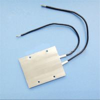 12V 60W 180 Degree Aluminum PTC Heating Element Thermostat Heater Plate 77 x 62 x 6mm Home Improvement Tools Mayitr
