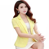 AOZUZLA 2018 Summer Female Short Sleeve Coats Office Woman