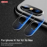 NMEGOU Glass Screen Protector Full Cover X XR XS Max Case for IPhone 6 6s 7 8 Plus