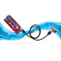 Kinganda SATA PCI-E 1X To 16X Extender GPU Graphic Extension Cable Convert Adapter