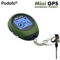 Podofo Mini Handheld GPS Navigation Receiver Location Finder USB Rechargeable