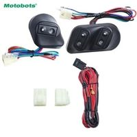 MOTOBOTS 1Set Universal 12V/24V 3pcs Buttons Car Power Window Switches with Holder