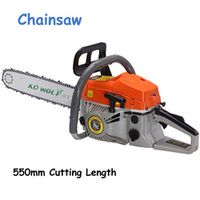 YunlinLi 1pc Chainsaw 2-Stroke Air-cooling 50CC 20'' 2.2KW 550mm Cutting Length