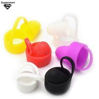 SUB TWO 5pcs Universal Silicone Sanitary Cap Antiskid Ring for Dustproof Prevent Slippery Fit 19-25mm Tank e cigarette Atomizer
