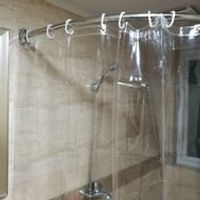 Customized The thicknen shower curtain for the bathroom Pvc transparent 180x180cm bath curtains