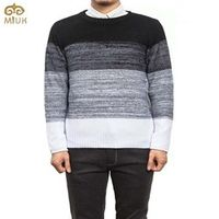 Large Size Patchwork Gradient Sweater Men 5XL 4XL Brand Clothing O Neck Sweter Hombre 3Color Red Black Christmas Sweater 2017