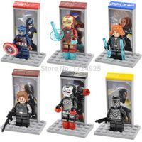 HSANHE Single Sale Decool 0250-0255 Captain America Figure