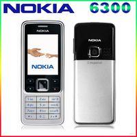 Original Nokia 6300 Mobile Phone Unlocked Black 6300 cellphone & Russian Arabic English Keyboard