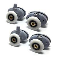 8 x Butterfly Single Shower Door Rollers/Runners/Wheels/Pulleys 23mm wheel