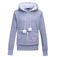 FancyQube Dog Pet Tops Cat Lovers Hoodies With Cuddle Pouch