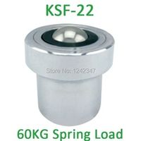 KSF-22 22mm base mounting carbon steel 70/80kgs ball bearing with 60kgf Spring Loading Capacity KSF22 Ball Transfer Units