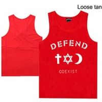 new style casual hip hop high quality defend men's muscle undershirt for men and women defend hip hop muscle tank tops o-neck