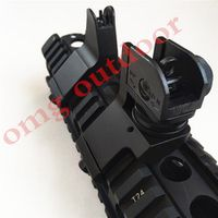 omg outdoor AR15 Front Rear 45 Degree Offset Transition Backup Iron Rapid Rifle RTS