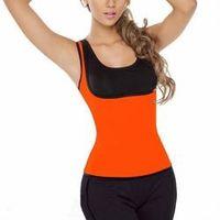 Ultra Sweat HOT Womens Slimming Sweat Vest Hot Neoprene Shirt Body Shaper hot shapewear   Orange color