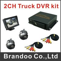 2 Channel Taxi DVR System With 4.3 inch LCD Monitor and 2 Camera For Bus Car Truck