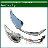 New Chrome Teardrop Custom Rearview Mirrors For Harley Motorcycle Cruiser Chopper