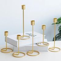AIHOME European Style Candle Holder Gold Single Head Iron