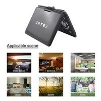 LESHP 9.8 inch Portable Mobile DVD Player Hi-speed USB Multimedia Support TV VCD CD