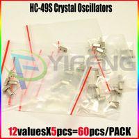 60pcs X Crystal Oscillators PACK HC-49S 12 Values