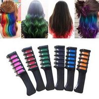 images 6 Pcs/Set Temporary Chalk Color Comb Kits Disposable Cosplay Party Hairs