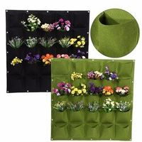 TOPINCN 20 Kinds Pocket Wall Vertical For Plants Flower