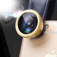 kinple Mobile phone lenses fisheye 3 in 1 fish eye wide angle macro camera lens
