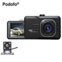 Podofo Dual Lens Car DVR Dash Cam 1080P Full HD Video Registrar Recorder Camera