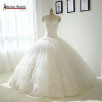 AMANDA NOVIAS Big Ball Gown Puffy Wedding Dress