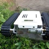 stainless steel Toy tank Robot DIY Chassis Smart track with two carbon brush motor for Arduino free shipping