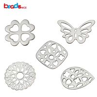 Beadsnice 925 Sterling Silver Filigree Findings Flower Connector Charms Pendant Findings Earring Components ID 34868