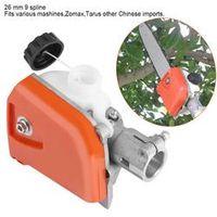 WALFRONT 26mm Orange Pole Saw Tree Cutter Chainsaw Gearbox Gear Head Tool 9 Spline