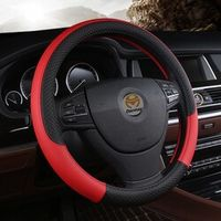DERMAY PU Leather Universal Car Steering-wheel Cover 38CM Car-styling Sport Auto