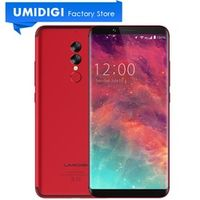 "Global Version UMIDIGI S2 Full Screen 6.0"" Cell Phone Black Red 5100mAh Long Standby"