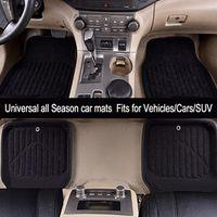 Car-pass Car Floor Mats Universal Black/Gray Front Rear Fit Driver Passenger Seat