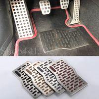 Car Aluminum Pad Plate Pedal Foot Rest Carpets floor mats For Dodge ram 1500 2500