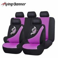 flyingBanner Butterfly Printing Breathable Sandwich Cloth Car Seat Cover Universal