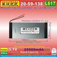 HEXUNBABA L617 3.7V 10000mAH 40117135 Polymer lithium ion / Li-ion battery for