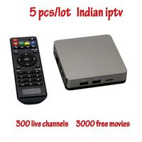 XINNEEBOW 5pcs/lot Support Indian Live with English channels internet TV box Android
